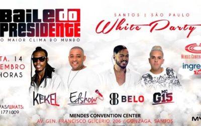 Belo, MC G15 e MC Kekel se apresentam em Santos