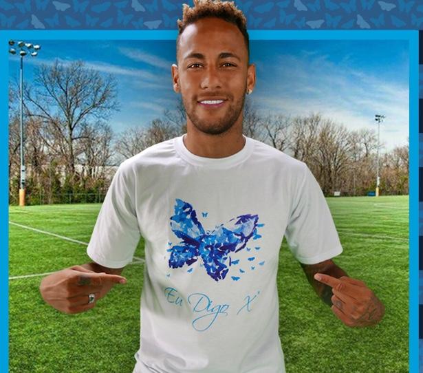 Neymar Jr estrela campanha voluntariamente para o Projeto Eu Digo X
