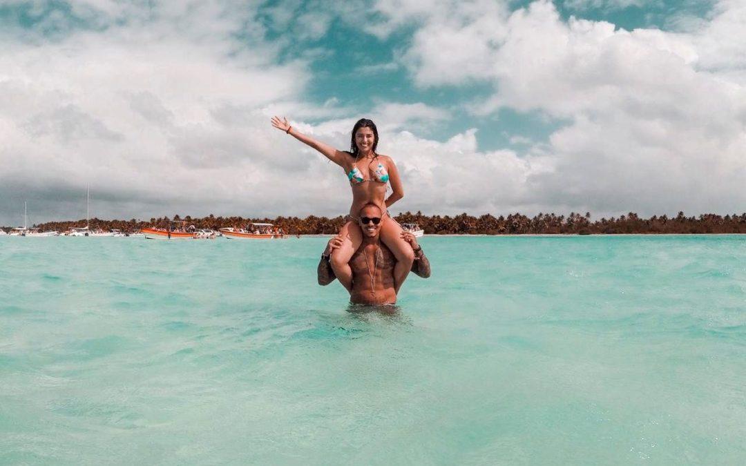 Rian Nogueira posa nas belezas paradisíacas de Punta Cana
