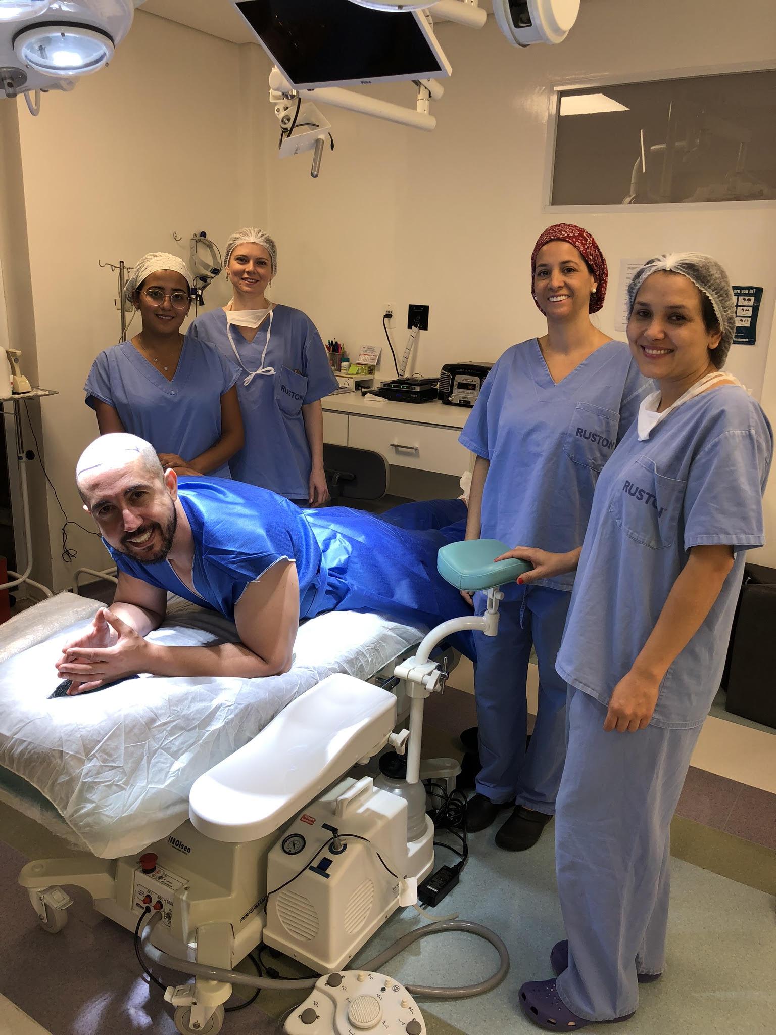 Thiago Rocha com equipe do Dr.Antonio Ruston