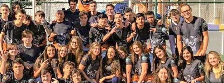 Esportiva! Ana Eliza Bussolo participa de olimpíada em colégio de Florianópolis