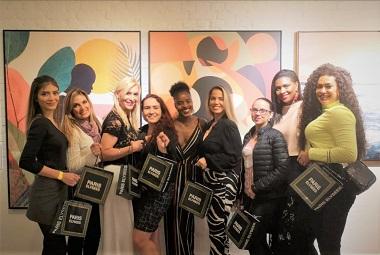 A bailarina Ingrid Silva  reúne blogueiras e influencers na cidade de Säo Paulo