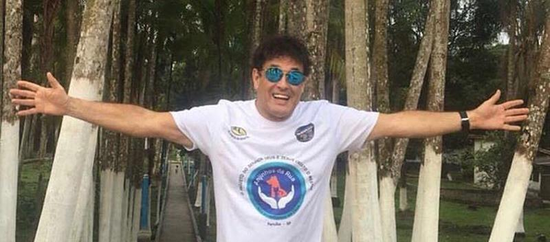 Sergio Mallandro é embaixador do Projeto Anjinhos da Rua