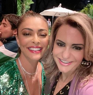 A influencer  Jordana Luchetti  curte  show  da  cantora  Ivete  Sangalo  ao  lado de  celebridades