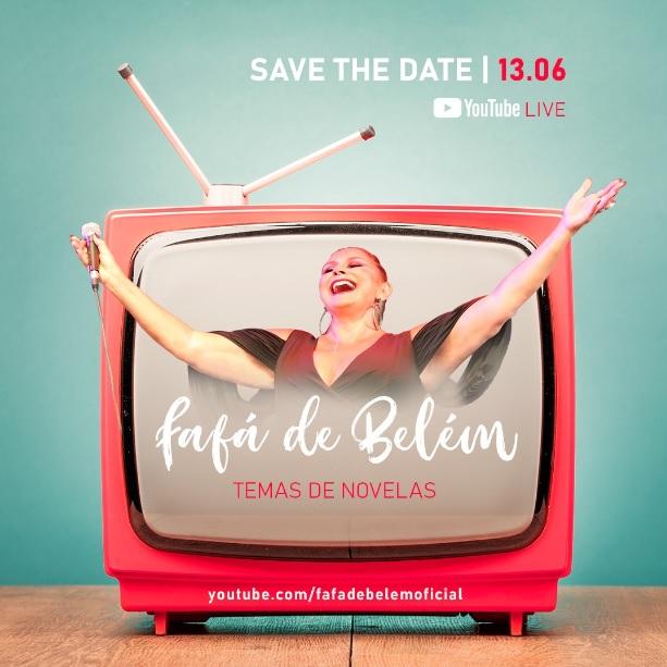 Live de Fafá de Belém será em homenagem ao amor