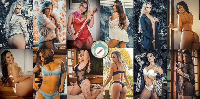'Casa das Pimentinhas': modelos fazem ensaio de lingerie para final do reality show