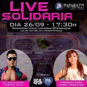 A Rádio  Paparazzi  e o  Programa Pointmix  realizam  Live Solidária   em prol à campanhas  em São Paulo