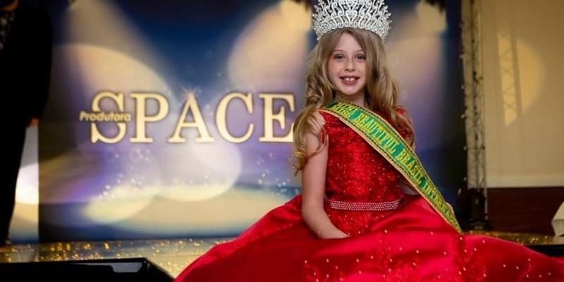 Gaúcha, Djenifer Engelmann Auler, vence o 'Mini Miss Beautiful Brasil 2021'