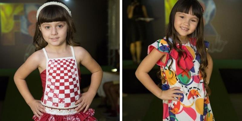 Valentina Farias e Giovanna Armada brilham pelas marcas 'Melancia Brasil Kids' e 'Kukixo' no evento de moda do 'Fashion Runway Club'
