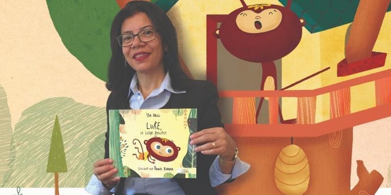 """Isa Colli, escritora brasileira, lança livro infantil """"Luke, o Macaco Atleta"""", em francês"""
