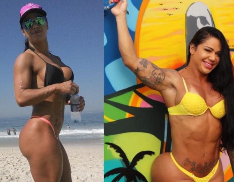 Vanessa Ataídes mostra antes e depois após procedimentos para ter o maior bumbum do Brasil