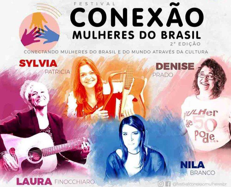 Festival Conexão Mulheres do Brasil – 2ª edição, acontece nos dias 26, 27 e 28 de março no youtube