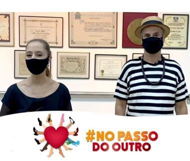 No Passo do Outro ,ação solidária  na dança com  Carlinhos de Jesús e Ana Botafogo movimentam o Brasil