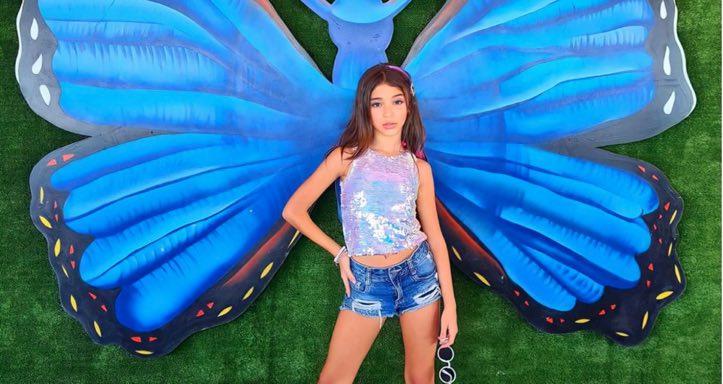 Júlia Borges, atriz e modelo comemora seu aniversário de 10 anos, no Rio