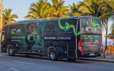 Veículo inova com campanha em ônibus no Rio de Janeiro